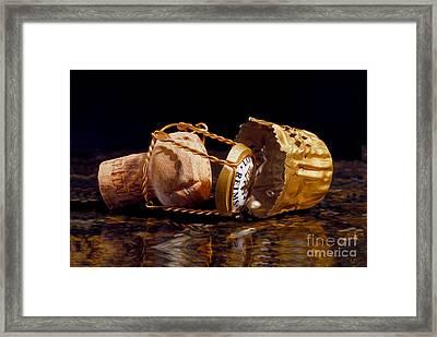 Cristal Cork Granite Digital Paint Framed Print by Jon Neidert