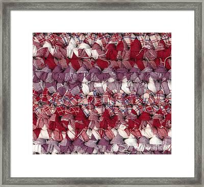 Crochet Rag Rug Framed Print by Kerstin Ivarsson