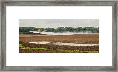 Crop Duster Spraying Pesticides Framed Print by Jim West