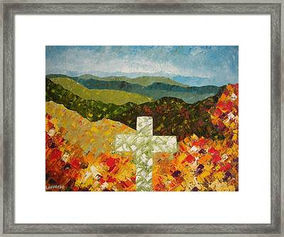 Cross Of The Colorful Ridges Framed Print by Ralph Loffredo