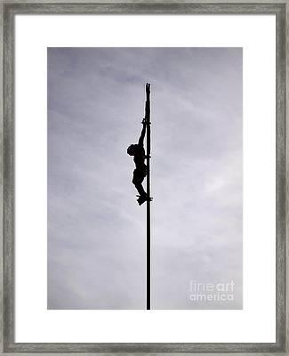 Crucifix Framed Print by Bernard Jaubert