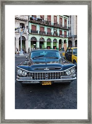 Cuba, Havana, Havana Vieja, Detail Framed Print by Walter Bibikow