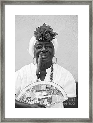 Cuban Lady Framed Print by Chris Dutton