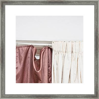 Curtains Framed Print by Tom Gowanlock