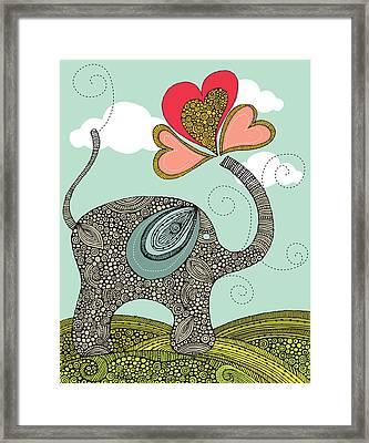 Cute Elephant Framed Print by Valentina Ramos
