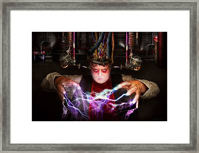 Cyberpunk - Mad Skills Framed Print by Mike Savad