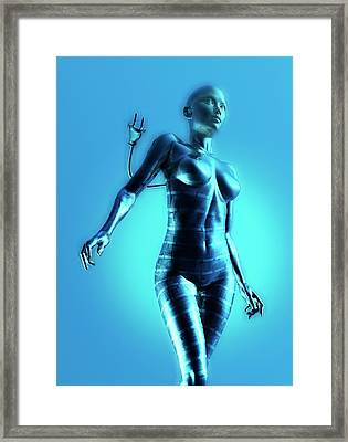 Cyborg Framed Print by Victor Habbick Visions
