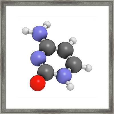 Cytosine Pyrimidine Nucleobase Component Framed Print by Molekuul