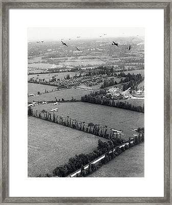 D-day Landings Framed Print by Us Air Force
