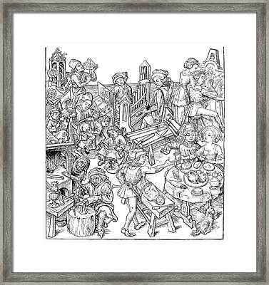 Daily Life, 16th Century Framed Print by Granger
