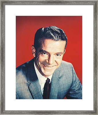 Dana Andrews Framed Print by Silver Screen