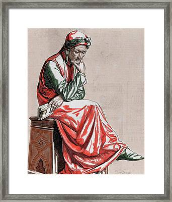 Dante Alighieri (1265-1321 Framed Print by Prisma Archivo