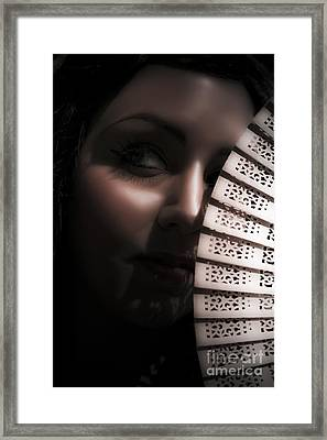 Dark And Mysterious Woman Framed Print by Jorgo Photography - Wall Art Gallery