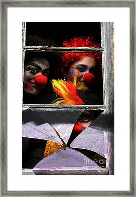Dark Carnival Clowns Framed Print by Jorgo Photography - Wall Art Gallery