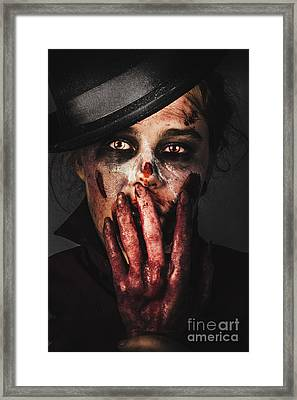 Dark Face Of Fear. Fright Night Framed Print by Jorgo Photography - Wall Art Gallery