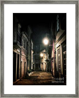 Dark Street Framed Print by Carlos Caetano