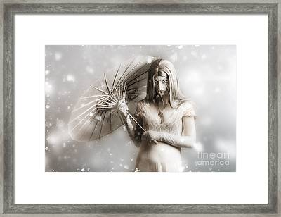 Dark Vampire In A Forsaken Winter Wonderland Framed Print by Jorgo Photography - Wall Art Gallery