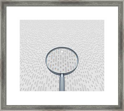 Data Analysis Computer Artwork Framed Print by David Parker