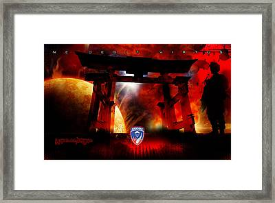 David Cook Los Angeles 187th Regiment Rakkasan Ne Desit Virtus Artwork Framed Print by David Cook Los Angeles