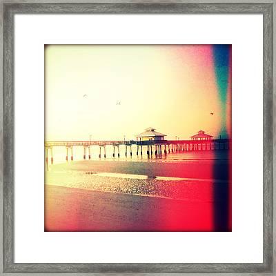 Dawn Breaking-vintage Framed Print by Chris Andruskiewicz