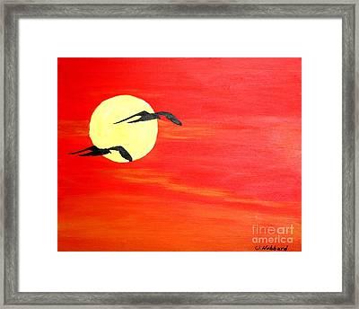Dawn Patrol Framed Print by Bill Hubbard