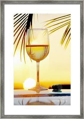 Day At The Beach Framed Print by Jon Neidert