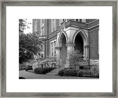 De Pauw University East College Framed Print by University Icons