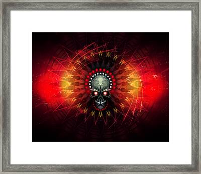 Deadstep - Hellfire Remix Framed Print by George Smith