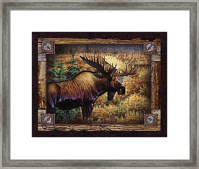 Deco Moose Framed Print by Cynthie Fisher