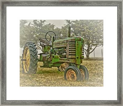 Deere In Mist Framed Print by Robert Frederick