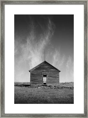 Defunct Country School Building - Rural North Dakota Framed Print by Donald  Erickson