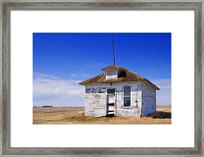 Defunct One Room Country School Building Framed Print by Donald  Erickson
