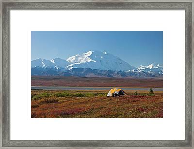 Denali National Park, Alaska, Mt Framed Print by Hugh Rose