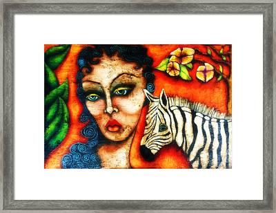 Derailed Fairytale Framed Print by Sherry Dooley