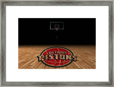 Detroit Pistons Framed Print by Joe Hamilton