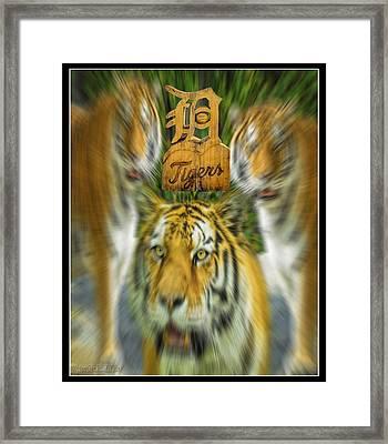 Detroit Tigers Baseball Framed Print by LeeAnn McLaneGoetz McLaneGoetzStudioLLCcom