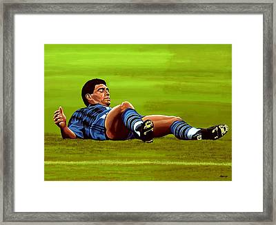 Diego Maradona Framed Print by Paul Meijering