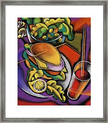 Dinner Framed Print by Leon Zernitsky