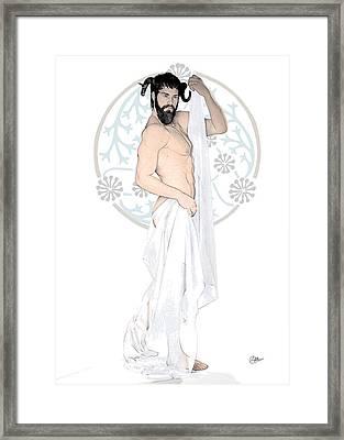 Dionysus God Of Wine Framed Print by Quim Abella