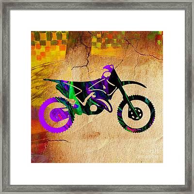 Dirt Bike Painting Framed Print by Marvin Blaine