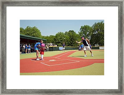 Disabled Baseball Game Framed Print by Jim West