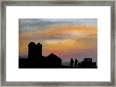 Discussing The State Of Things Framed Print by R Kyllo