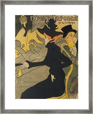 Divan Japonais Framed Print by Henri de Toulouse-Lautrec