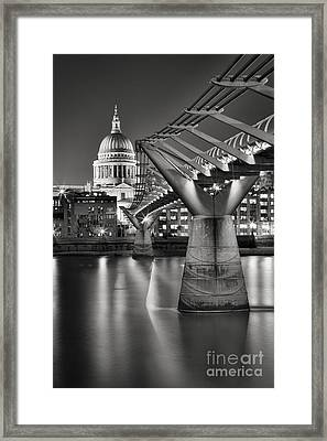 Dome And Bridge Framed Print by Rod McLean