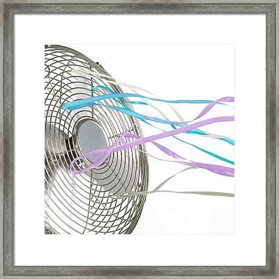 Domestic Fan Showing Air Movement Framed Print by Science Photo Library