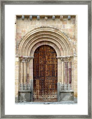 Door Framed Print by Frank Tschakert