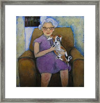 Doris And Maisie Framed Print by Cindy Riccardelli