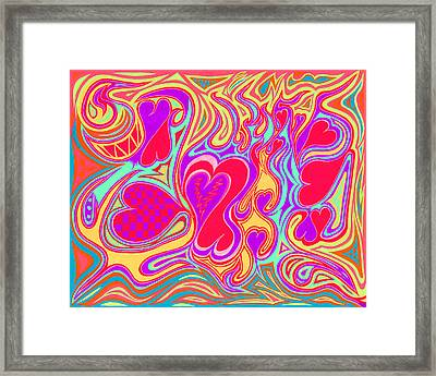 Double Broken Heart Framed Print by Kenneth James
