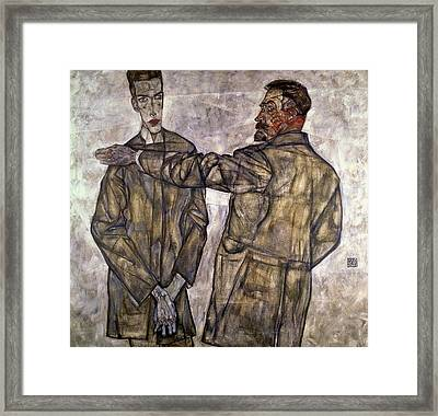 Double Portrait Of Otto And Heinrich Benesch Framed Print by Celestial Images