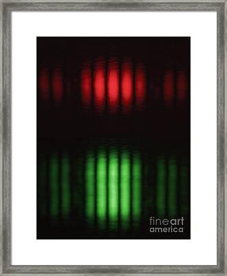 Double-slit Experiment Framed Print by GIPhotoStock